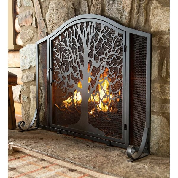 0fed059e16c Plow   Hearth Tree of Life Single Panel Iron Fireplace Screen   Reviews