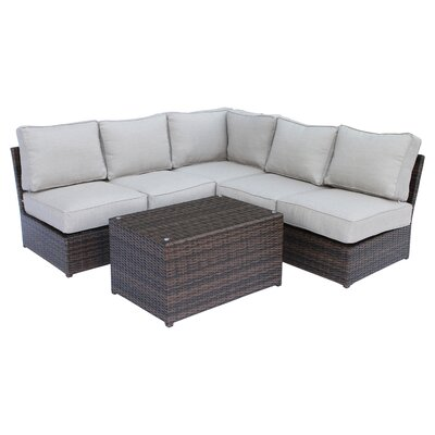 Brayden Studio Simmerman 6 Piece Sectional Set with Cushions