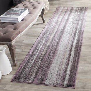 Zelda Purple/Charcoal Area Rug