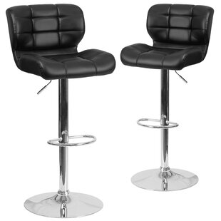 North Widcombe Adjustable Height Swivel Bar Stool (Set of 2)