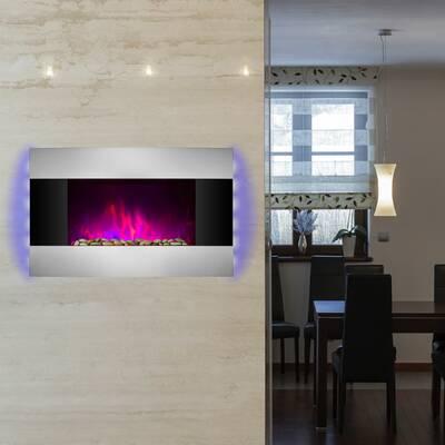 Akdy Wall Mounted Electric Fireplace Reviews Wayfair