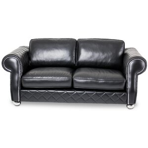 Mia Bella Lugano Leather Loveseat by Michael Amini (AICO)