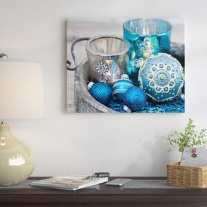 'Blue Christmas' Graphic Art Print on Canvas