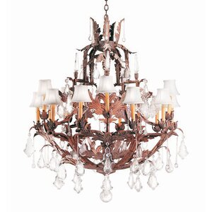 French Baroque 15-Light Crystal Chandelier