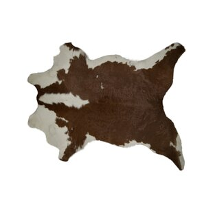 Best Price Coke Cowhide Brown/White Area Rug By Union Rustic