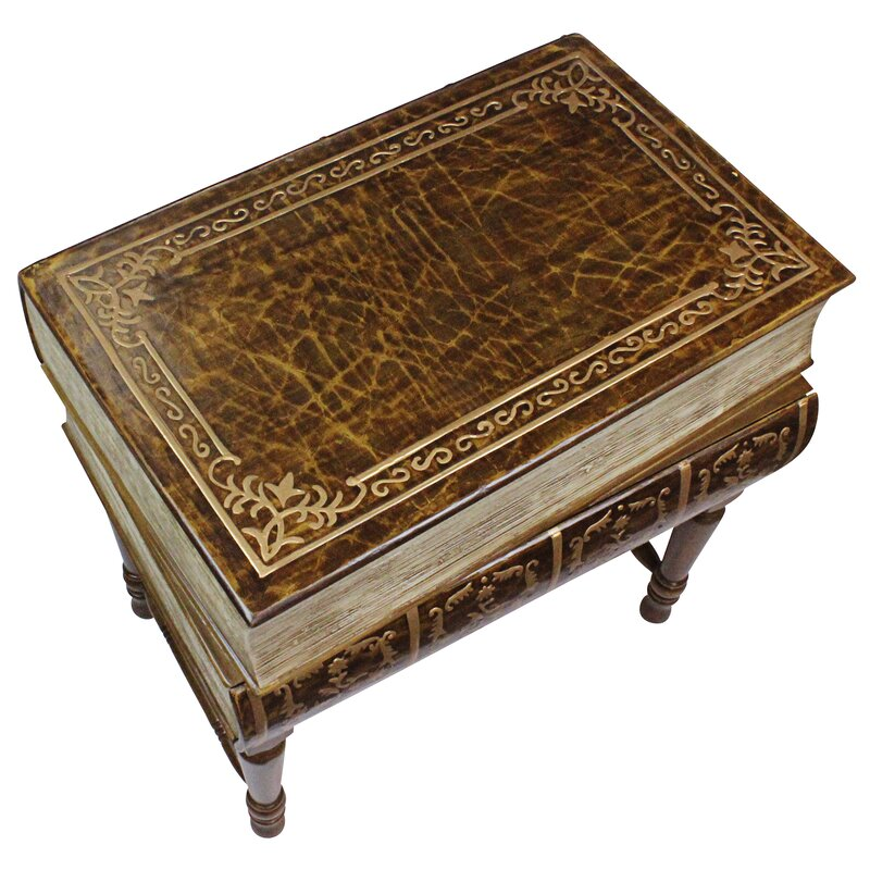 design toscano stacked books of shakespeare wooden end table wayfair