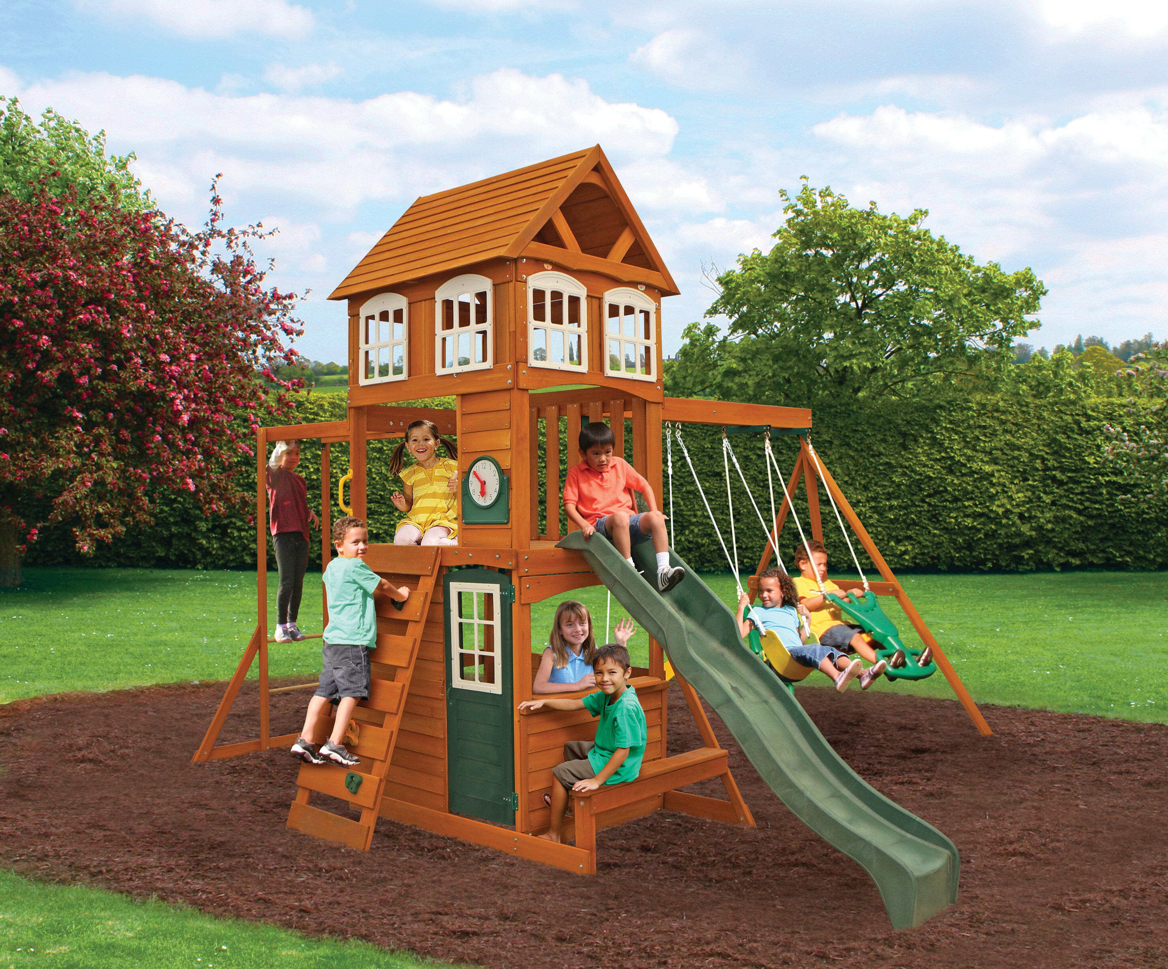 Wayfair Kidkraft Cranbrook Wooden Swing Set