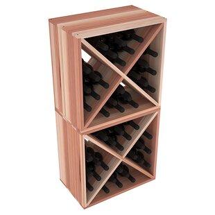 Karnes Redwood X-Cube 48 Bottle Floor Wine Rack