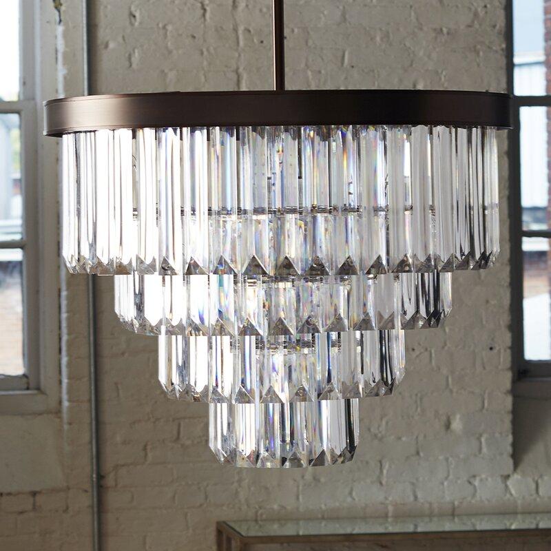 Willa Arlo Interiors Dyanna 6-Light Glam Crystal Chandelier ...