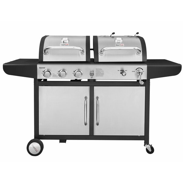 Royal Gourmet Performance 3 Burner Liquid Propane Gas And Charcoal Grill Reviews Wayfair