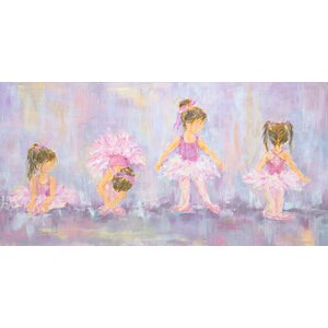 'Little Dancers' by Susan Pepe Stretched Canvas Art
