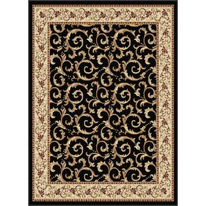 Langlee Black Area Rug