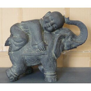 Buddha Child On Elephant Statue