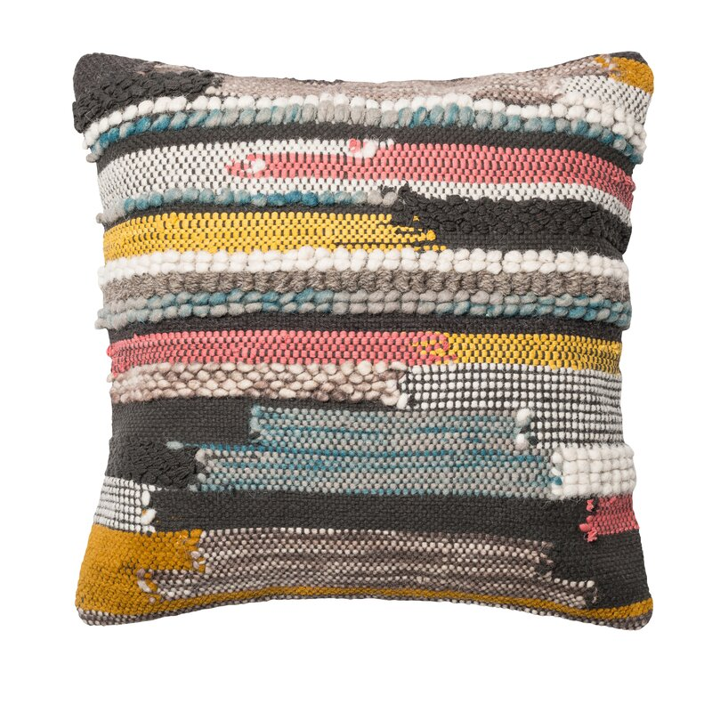 Mistana Halle Textured Throw Pillow