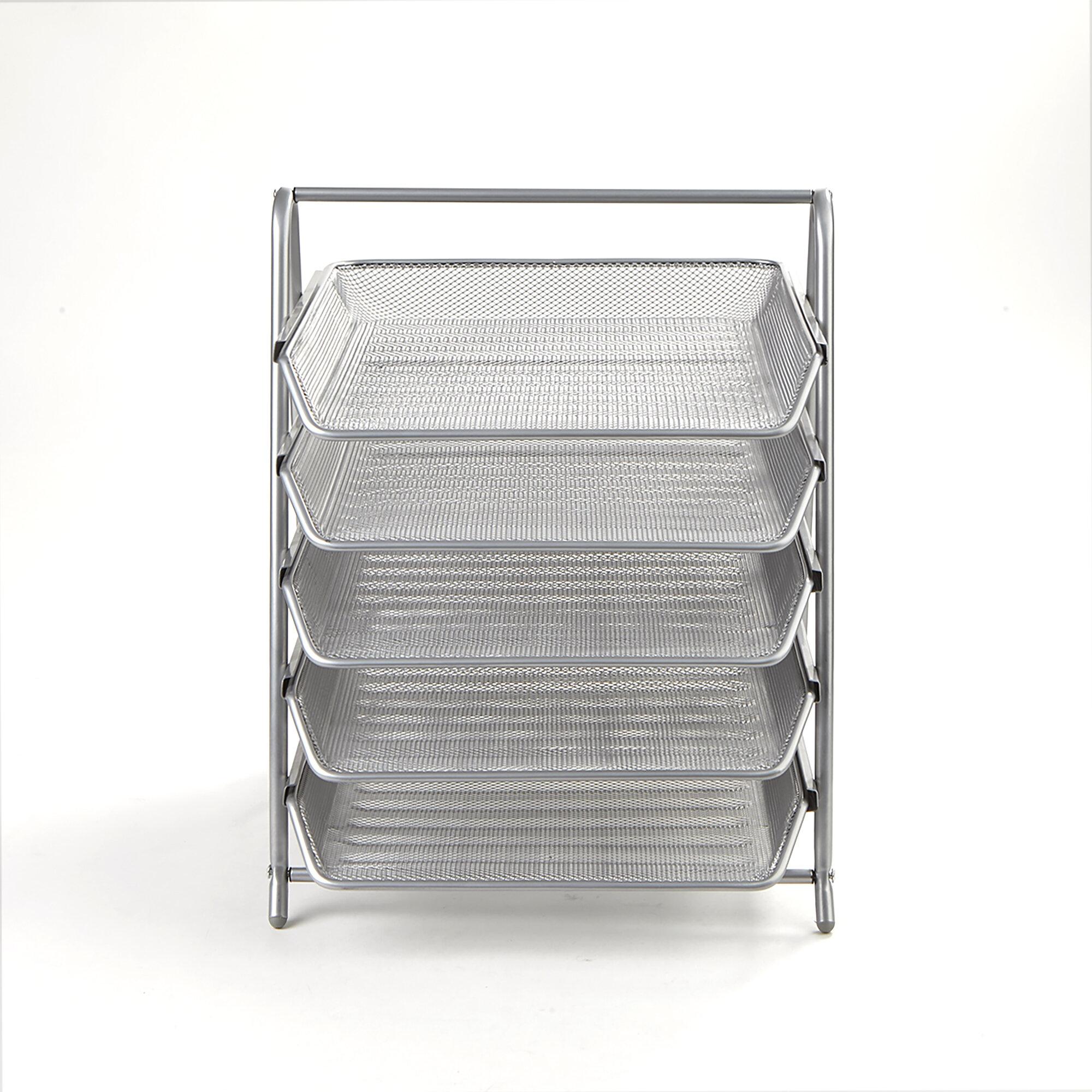Miraculous 5 Tier Steel Mesh Paper Tray Desk Organizer Download Free Architecture Designs Scobabritishbridgeorg