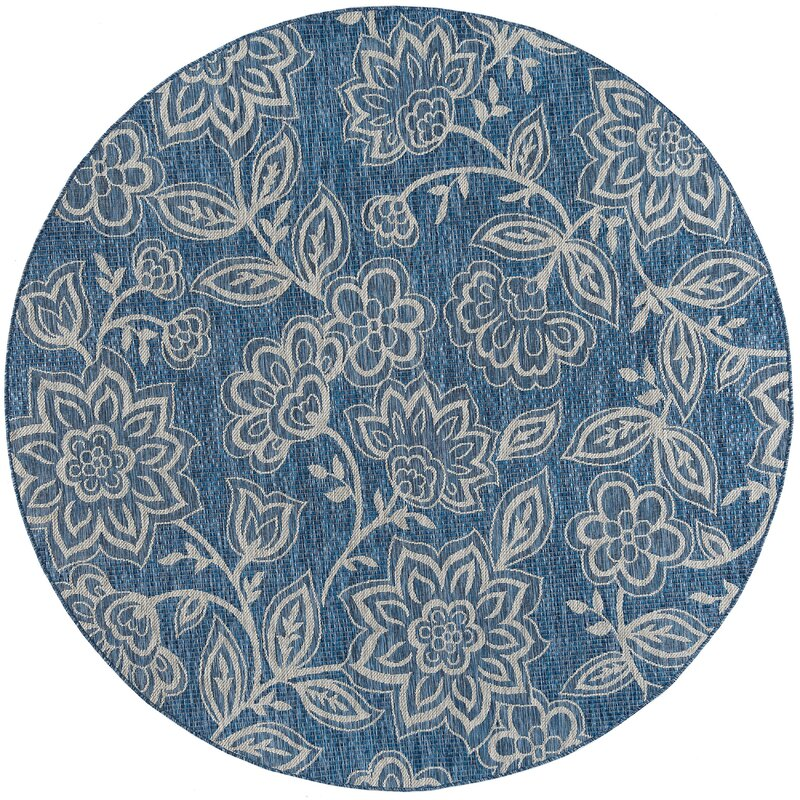 August Grove Stephane Transitional Indigo Indoor/Outdoor Area Rug, Size: Rectangle 710 x 103