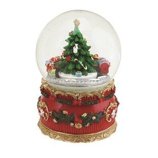 Christmas Tree And Train Musical Snow Globe