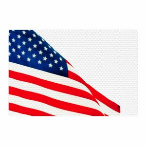 Sylvia Coomes American Flag Holiday Red Area Rug