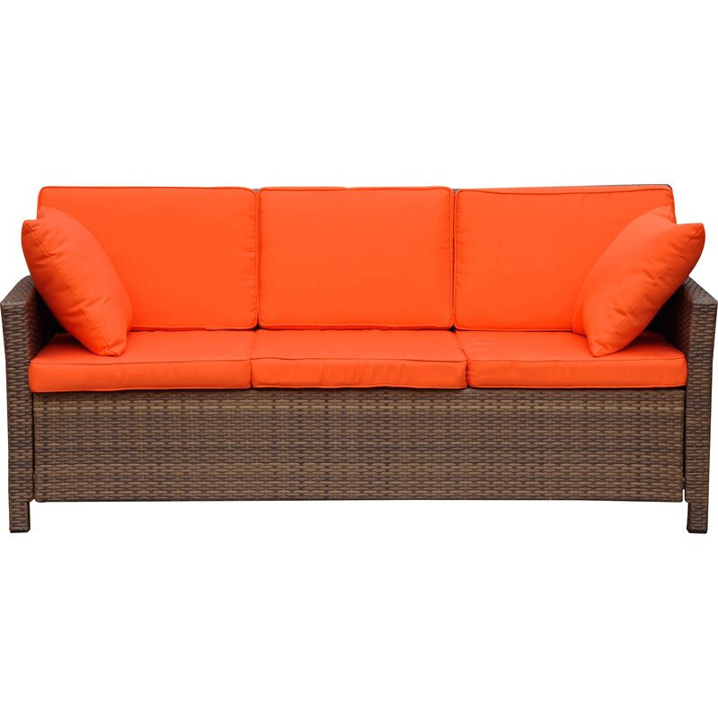 Delicieux Binney Wicker Resin Sofa With Cushions