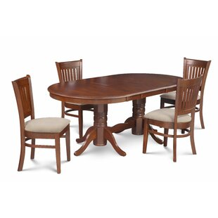 Miriam 5 Piece Extendable Solid Wood Dining Set