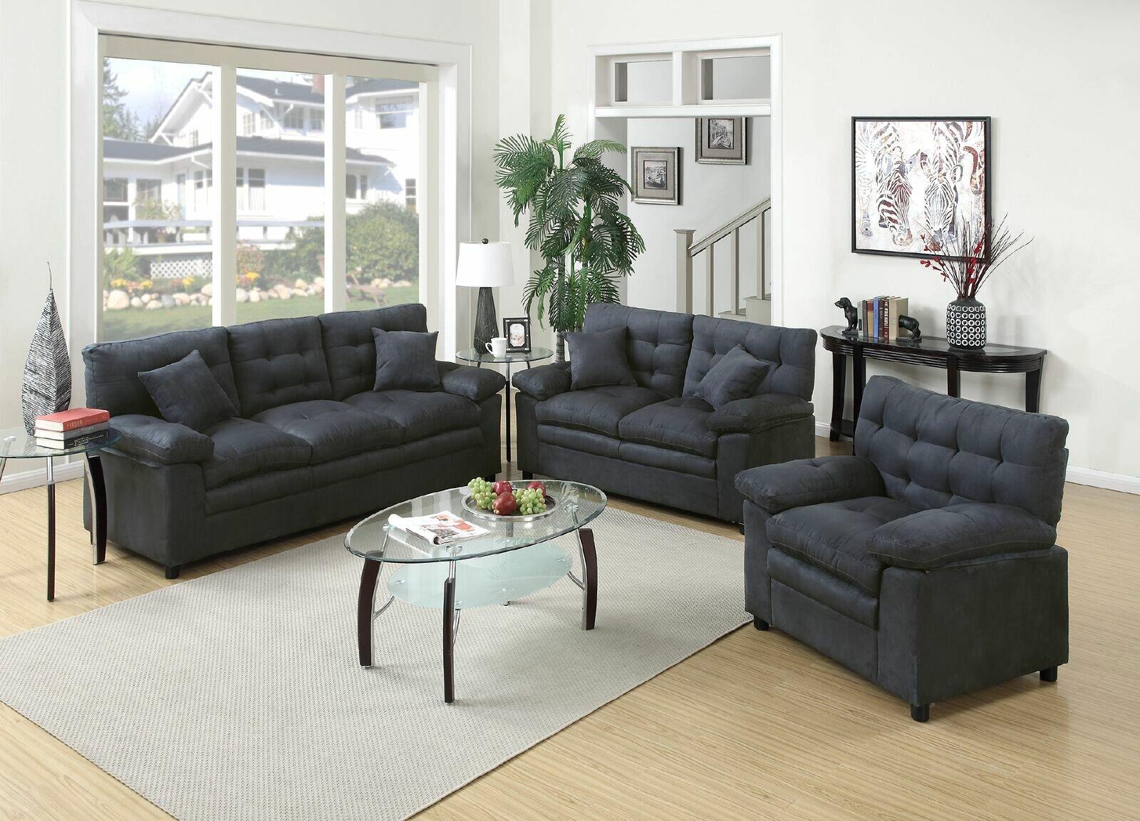 Red Barrel Studio Hayleigh 3 Piece Living Room Set & Reviews | Wayfair