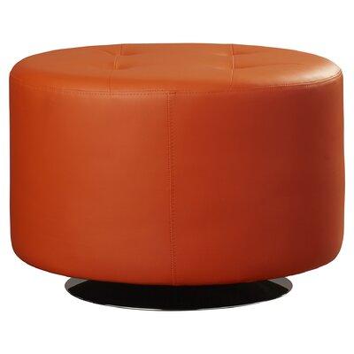 Orren Ellis Capitol Domani Tufted Ottoman Upholstery: Orange