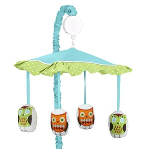 Hooty Turquoise and Lime Musical Mobile