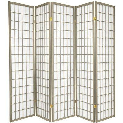 Bungalow Rose Leiva Room Divider Color: Gray, Number of Panels: 5