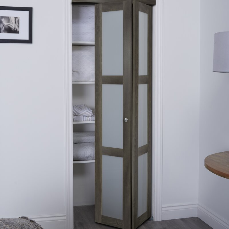 Erias Home Designs Baldarassario 3 Lite 2 Panel Wood Bi Fold Interior Door Reviews Wayfair