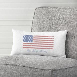 7aa437ede8ab Reedsville Personalized Flag Cotton Lumbar Pillow