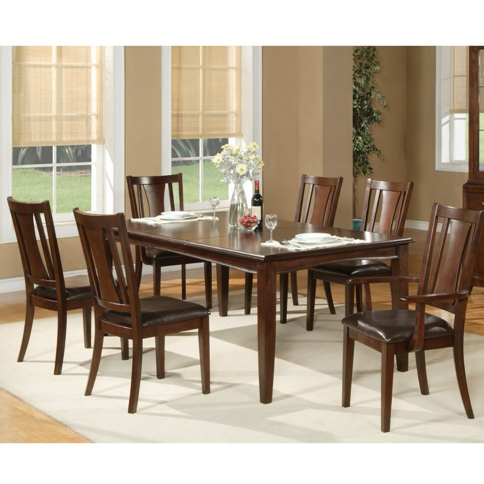 Charlton Home Sargeant Enormous Extension Rubberwood Dining Table Wayfair