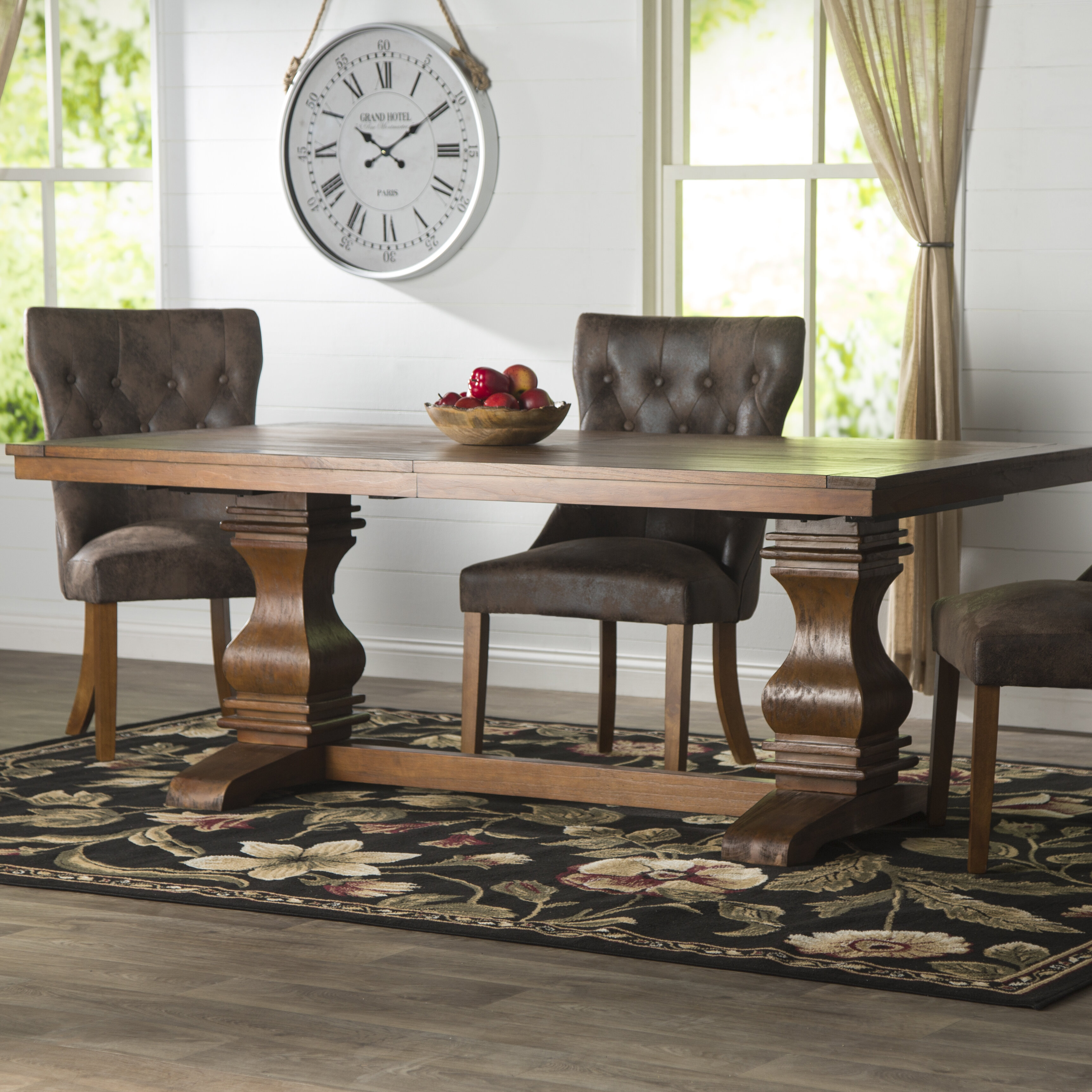 f12880e4f Three Posts Derwent Extendable Solid Wood Dining Table   Reviews ...