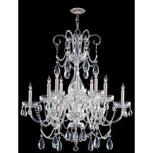 Crystal waterfall chandelier wayfair waterfall crystal 12 light crystal chandelier aloadofball Gallery