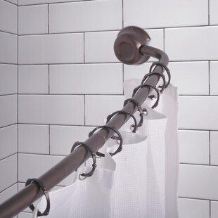 Rustproof 72 Adjustable Curved Fixed Shower Curtain Rod