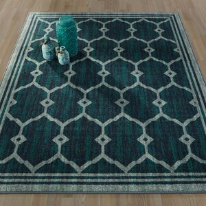 Authentic Green Area Rug