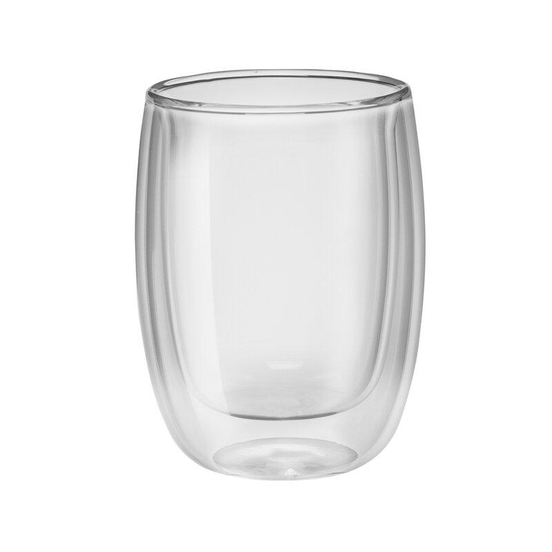 59bb1fab42b Zwilling JA Henckels Sorrento Double-Wall Glass Coffee Mug Set & Reviews |  Wayfair