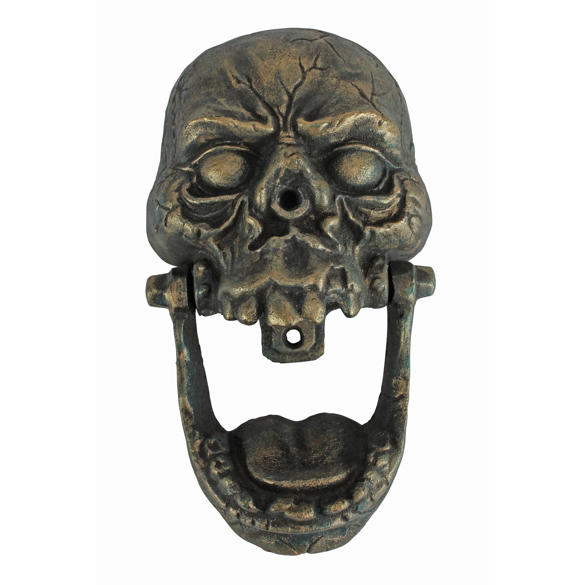 Design Toscano Knock Jaw Skull Cast Iron Door Knocker | Wayfair