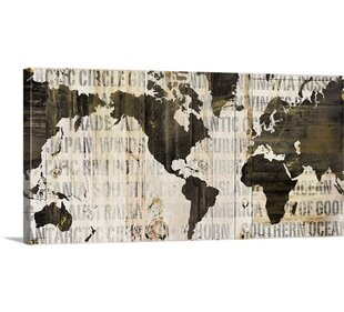 Rustic world map wall art youll love wayfair crate world map neutral by sue schlabach graphic art print gumiabroncs Image collections