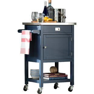 eira kitchen cart with stainless steel top - Kitchen Carts