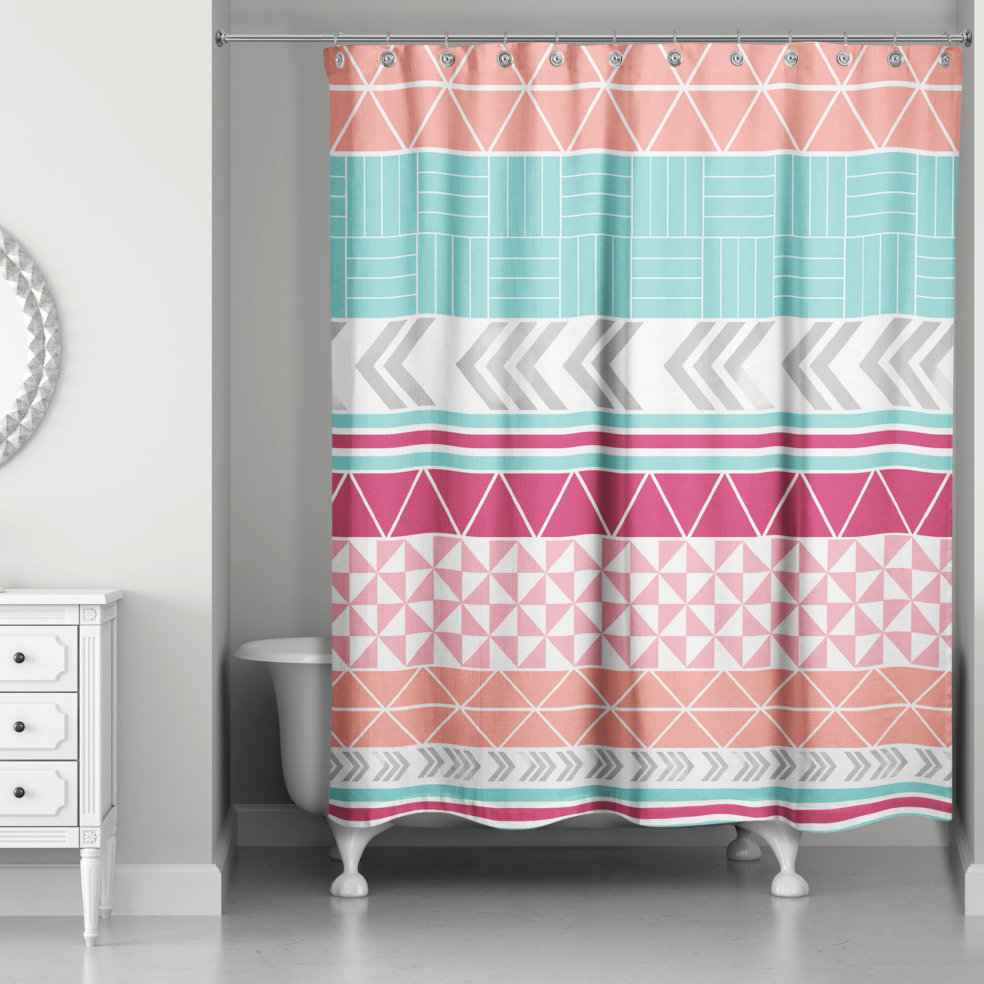 Bungalow Rose Hector Boho Tribal Shower Curtain
