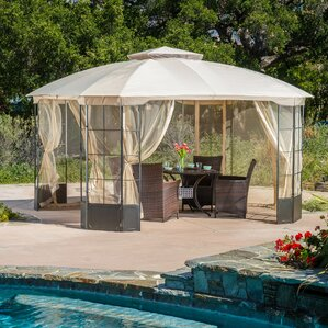 Exceptional Polina 13 Ft. W X 13 Ft. D Metal Permanent Gazebo