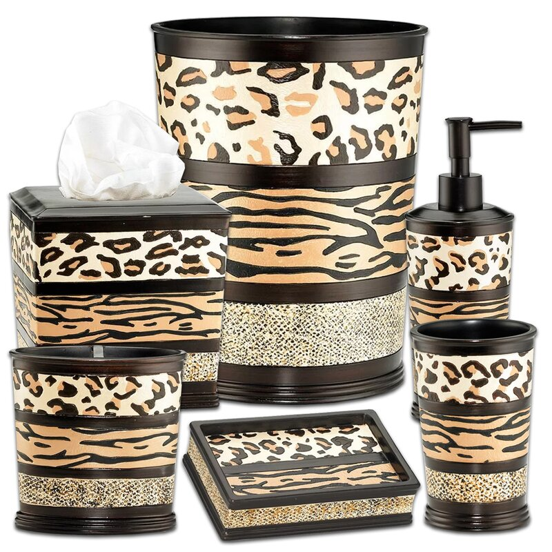 Niemeyer Animal Print 6 Piece Bathroom Accessory Set