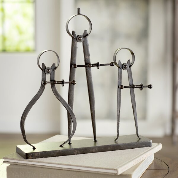 Trent Austin Design Rhine Compass And Caliper Sculpture