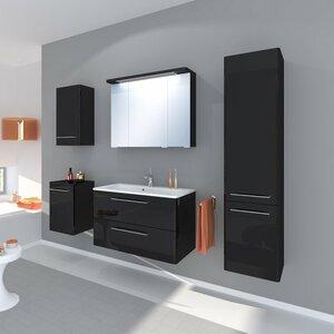 Belfry Bathroom 80 cm Waschtisch Grete mit Spiegel und Aufbewahrungsschrank