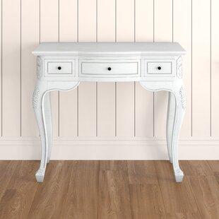 Soliz Hand Carved Wood Antique Vanity Desk