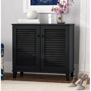 Baxton Studio 14 Pair Shoe Storage Cabinet