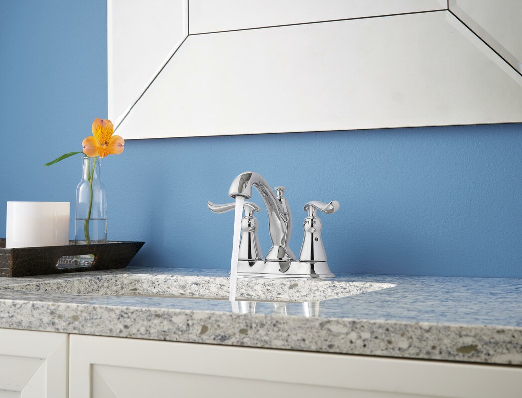 Delta Linden™ Centerset Bathroom Faucet with Drain Assembly and ...