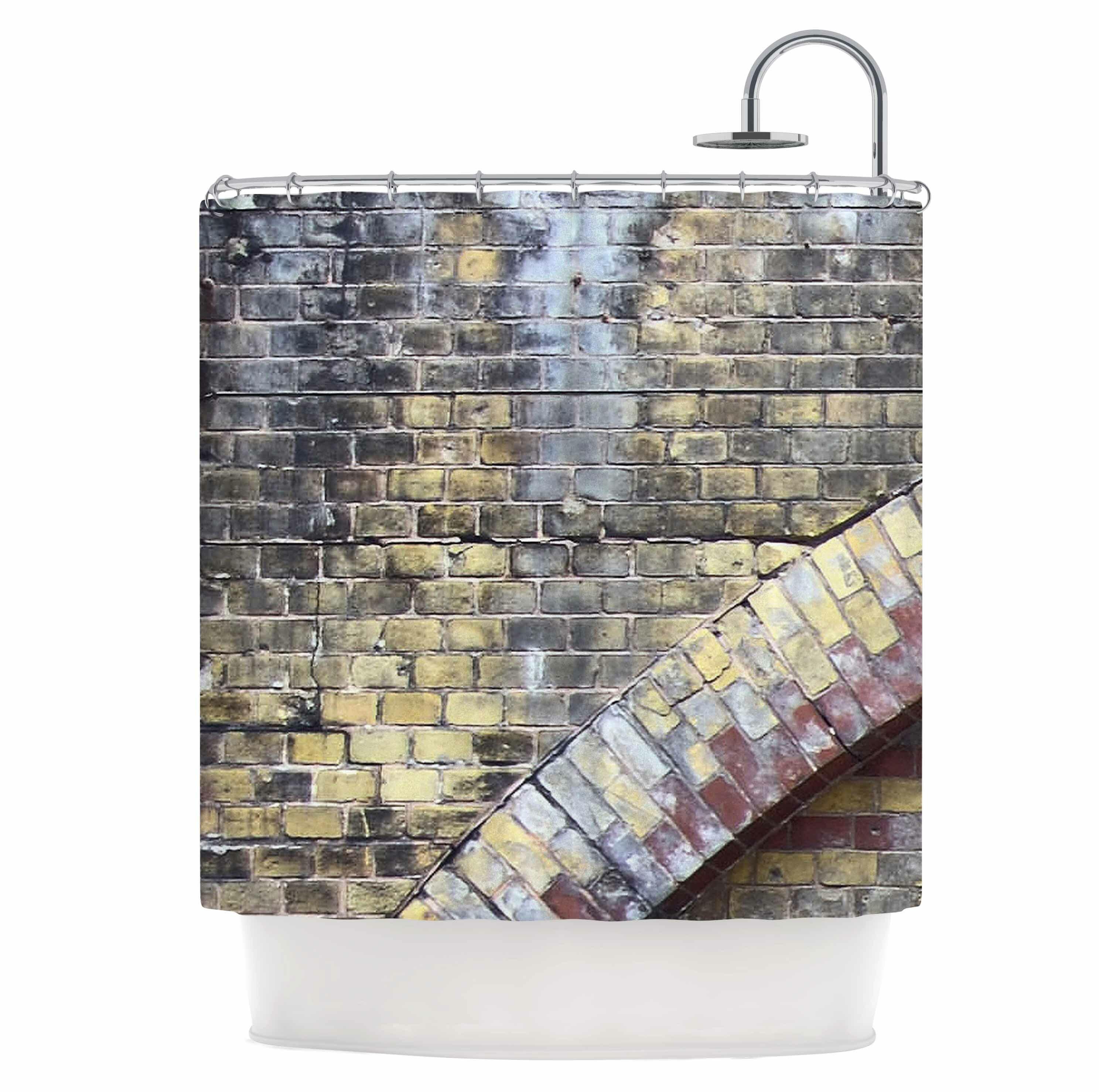 East Urban Home Grunge Brick Wall Shower Curtain