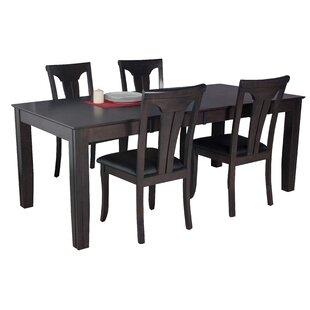 Avangeline 5 Piece Wood Dining Set