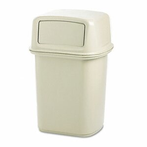 rubbermaid commercial ranger fire safe container structural foam 45 gallon switch top trash can